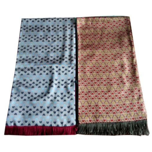 Mens Silk Scarf-Double Layers-Thick MSDT018C