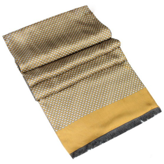 Mens Silk Scarf-Double Layers-Thick MSDT019A1
