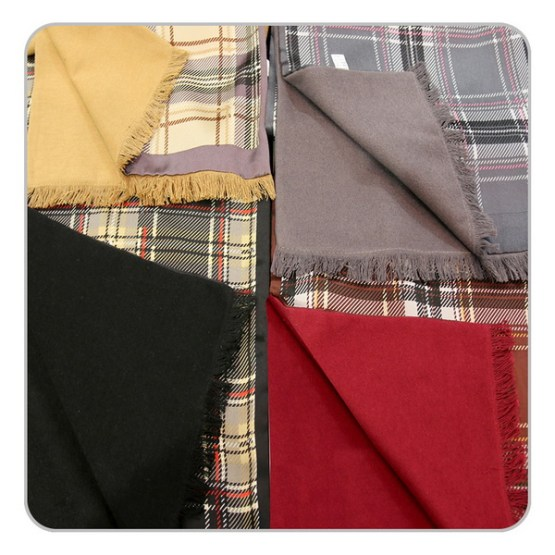 Mens Silk Scarf-Double Layers-Thick MSDT01A