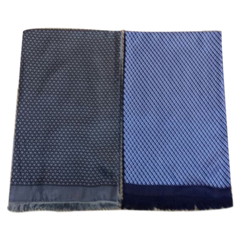 Mens Silk Scarf-Double Layers-Thick MSDT020B
