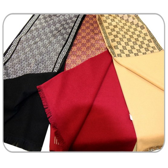 Mens Silk Scarf-Double Layers-Thick MSDT02A