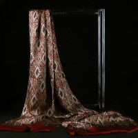 Mens Silk Scarf-Doule Layers with Fringe MSDF04B
