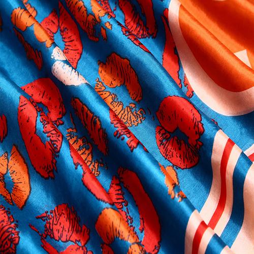 Silk Scarf -Infinity Scarf -Silk PAJ Scarf-KISS-SPKI02A2