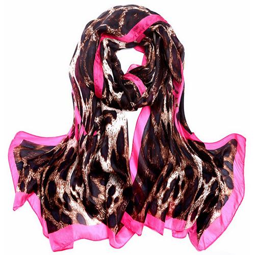 Silk Scarf -Infinity Scarf -Silk PAJ Scarf-Leopard-SPLE05A