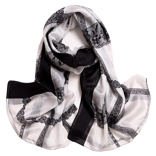 Silk Scarf -Infinity scarf-Silk PAJ Scarf-SPCL02A