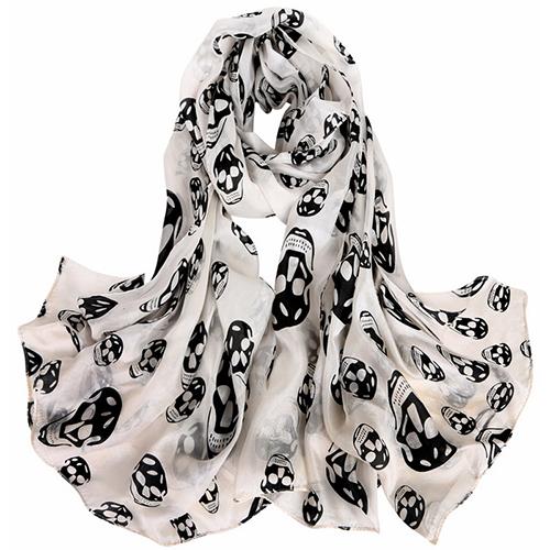 Silk Scarf-Skull Scarf -Silk PAJ Scarf-SPKU01A