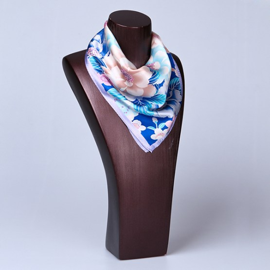 Square Silk Scarf-55CM Silk Scarf-Silk Scarf China- HHS013A