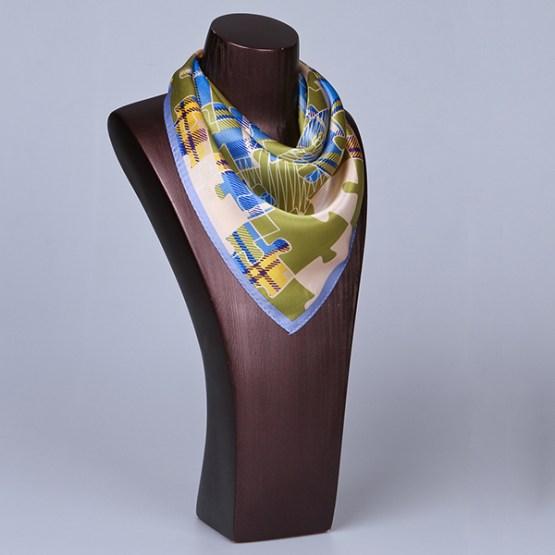 Square Silk Scarf-55CM Silk Scarf-Silk Scarf China- HHS014B