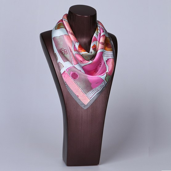 Square Silk Scarf-55CM Silk Scarf-Silk Scarf China- HHS016D