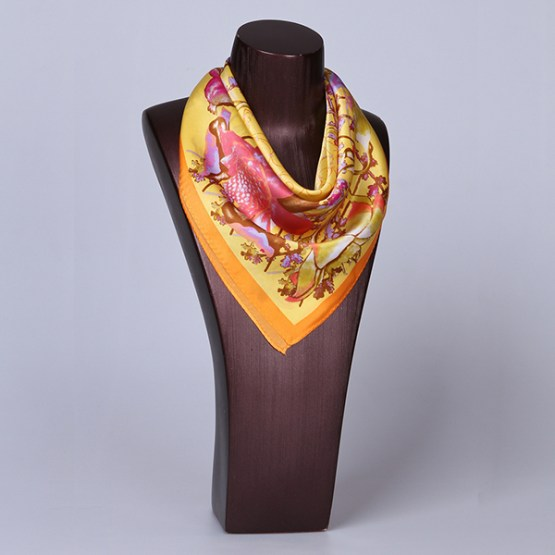 Square Silk Scarf-55CM Silk Scarf-Silk Scarf China- HHS018A