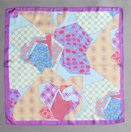 Square Silk Scarf-55CM Silk Scarf-Silk Scarf China- HHS01A