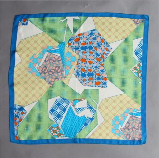 Square Silk Scarf-55CM Silk Scarf-Silk Scarf China- HHS01B