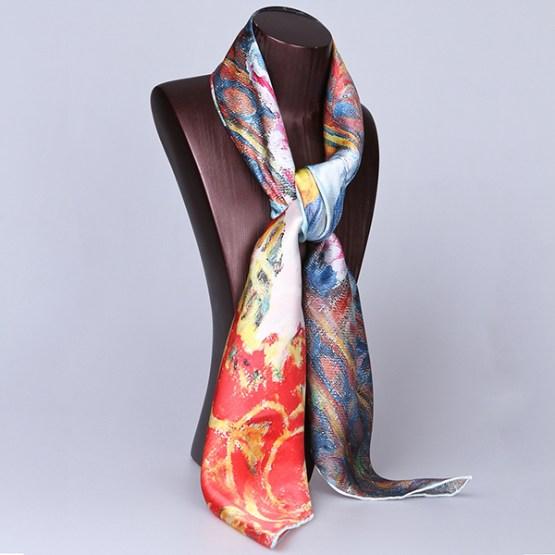 Square Silk Scarf-Silk Scarf-Digital Silk Scarf-100AA010