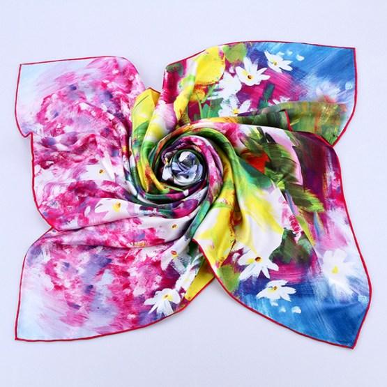Square Silk Scarf-Silk Scarf-Digital Silk Scarf-100AA011A