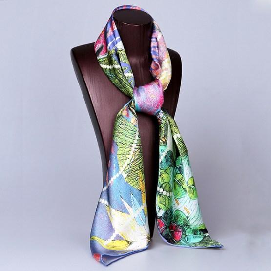 Square Silk Scarf-Silk Scarf-Digital Silk Scarf-100AA018