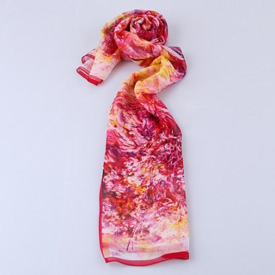 Summer Silk Scarf-Digital Silk Scarf-Long Silk Scarf-SDL01A