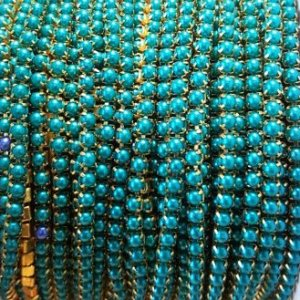 pearl chain light blue
