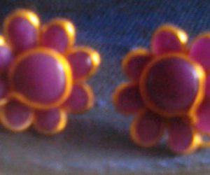 Purple Pachi Studs