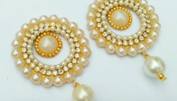 """55d54a398 In """"Silk Thread Bangles Making Tutorials"""". Making of designer Earrings  using paper"""