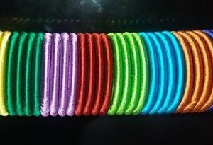 plain silk thread bangles 5 mm