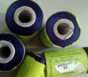 Dark blue silk thread