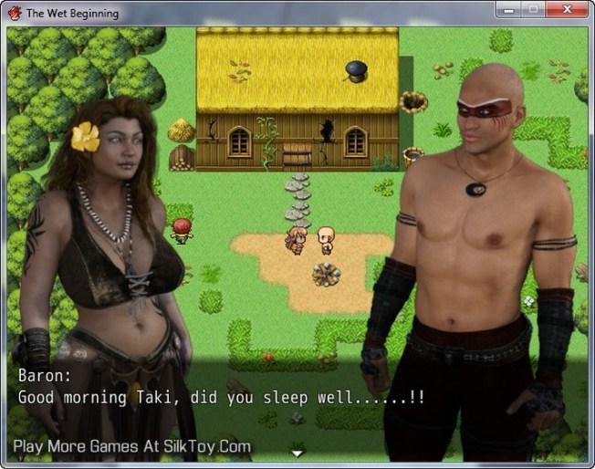 The Wet Beginning ebonny erotic game
