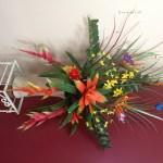 Artificial Flower Arrangement Tropical Flowers Silk Trees And Plants