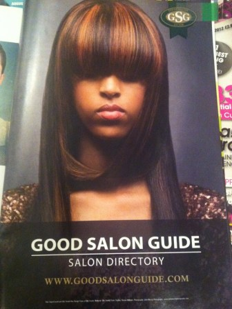 Afro hair highlights in Hair magazine Feb issue