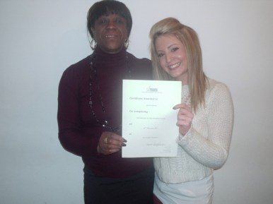 Silk Trends Hair Braiding Course - Happy Student receiving Certicate