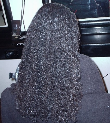Brazilian Blow Out - Natural Mixed Race Hair (Before)