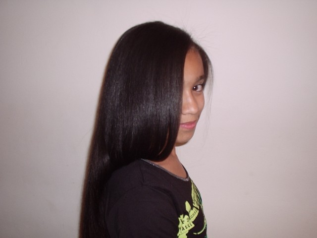 Brazilian Blow Out - Natural Mixed Race Hair (After) 4