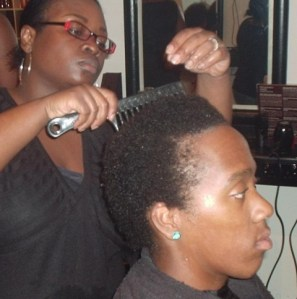Academy Course - Natural Hair Shampoo and Dry by Student