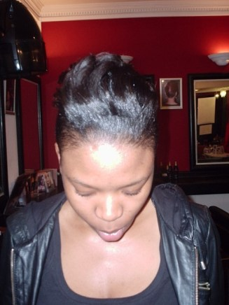 Special Occasions Hair Up Style (Front View)