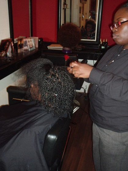 Academy Course - Natural Twist Style by Student - before