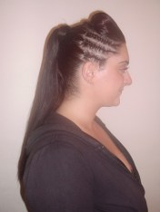 Special Occasion Updo with Cornrow (Side)
