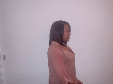 Full Head Shoulder Length Weave Side View (After)