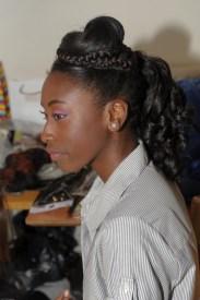 Natural Hair Creative Style