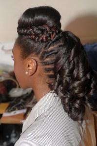 Natural Hair Creative Style 2