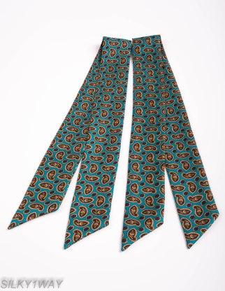 Turqouise Twilly/Ribbon scarf