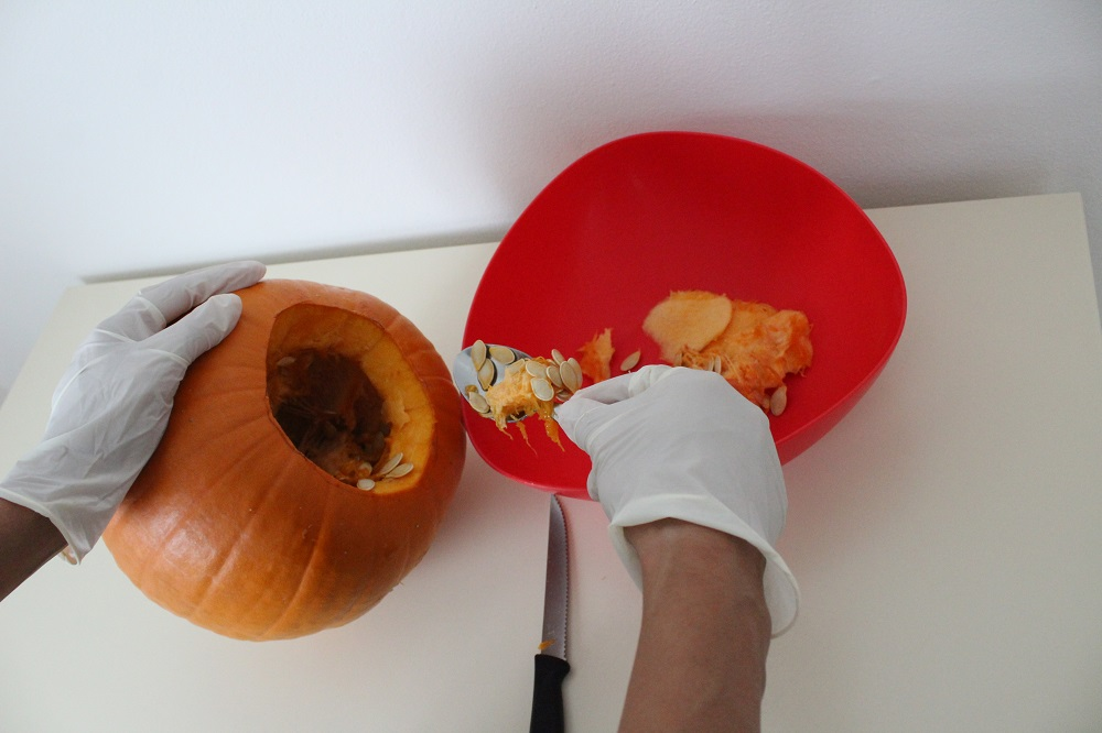 Vieni con Silla e Pepe a fare la zucca di Halloween
