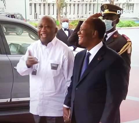 Côte d'Ivoire: Première rencontre entre le Président Alassane Ouattara et Laurent Gbagbo depuis la crise de 2010-2011. 28-07-21