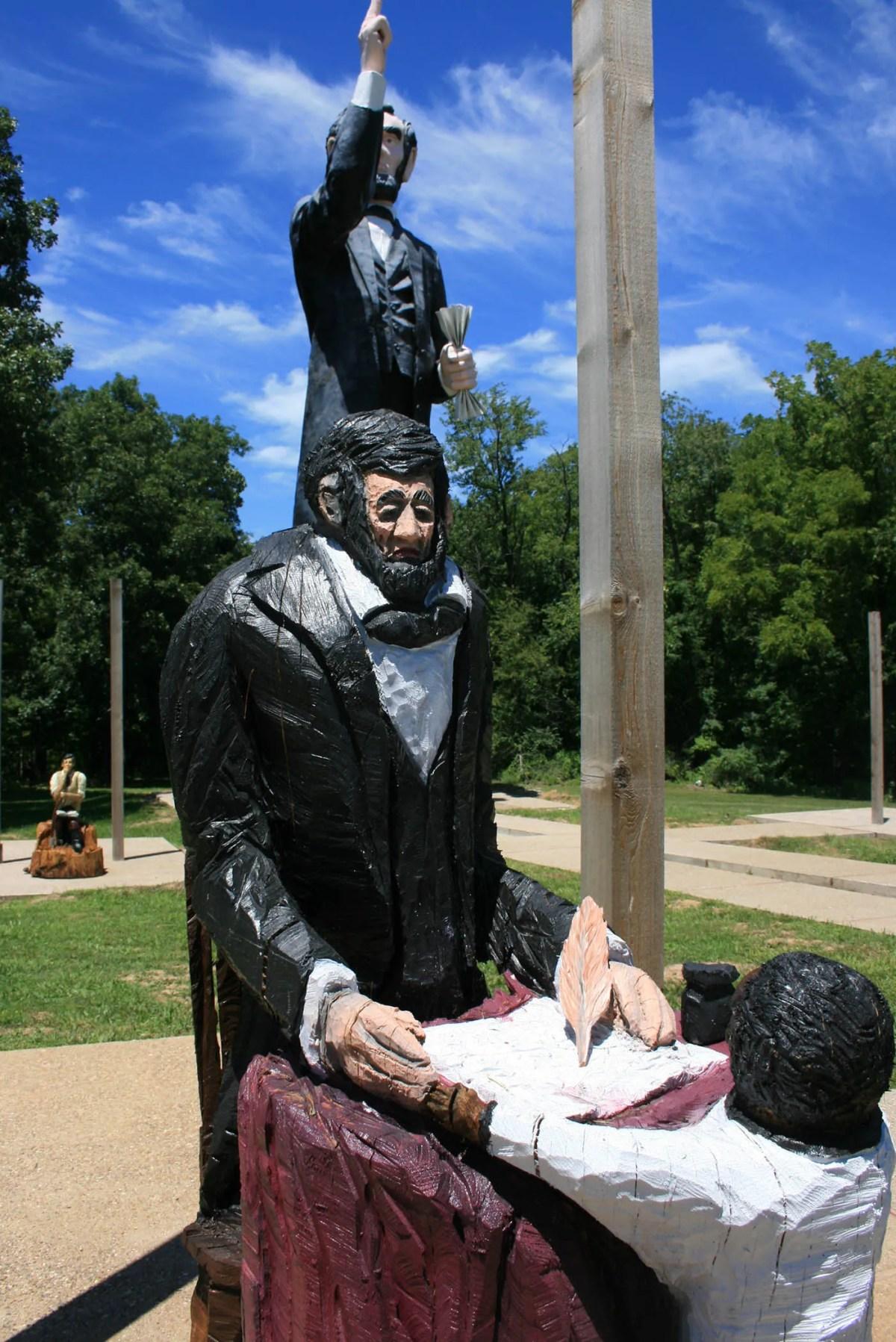 World's Tallest Abraham Lincoln Statue in Ashmore, Illinois