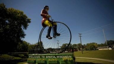 Big Ben, Ben Bikin - World's Largest Bicyclist in Sparta, Wisconsin