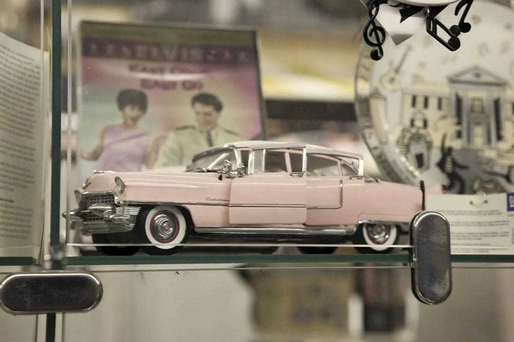 Pink Cadillac at Americana Hollywood Museum in Metropolis, Illinois