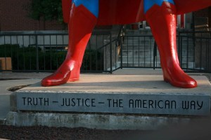Giant Superman Statue in Metropolis, Illinois