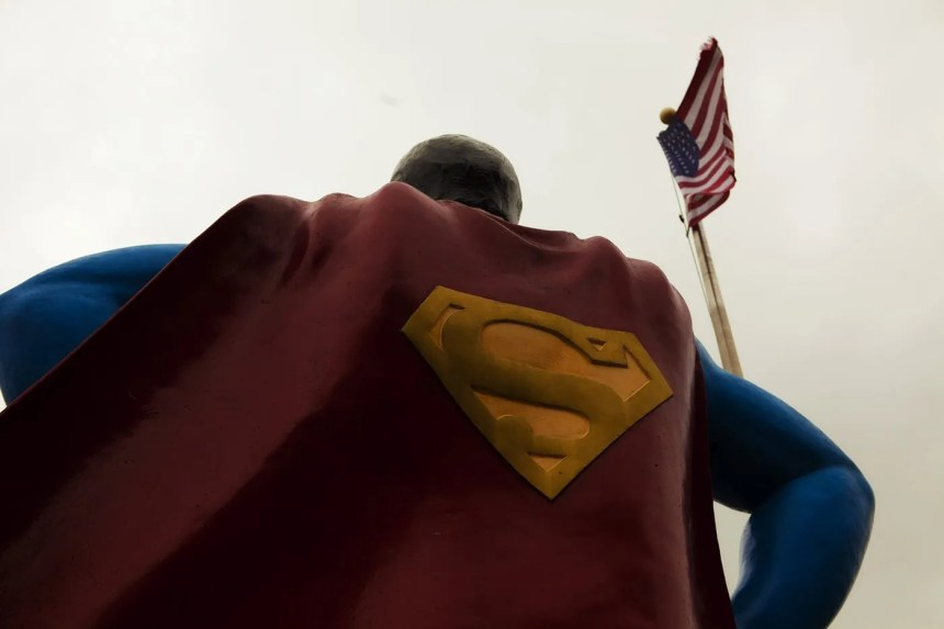 Roadside Attraction - Giant Superman statue in Metropolis, Illinois.