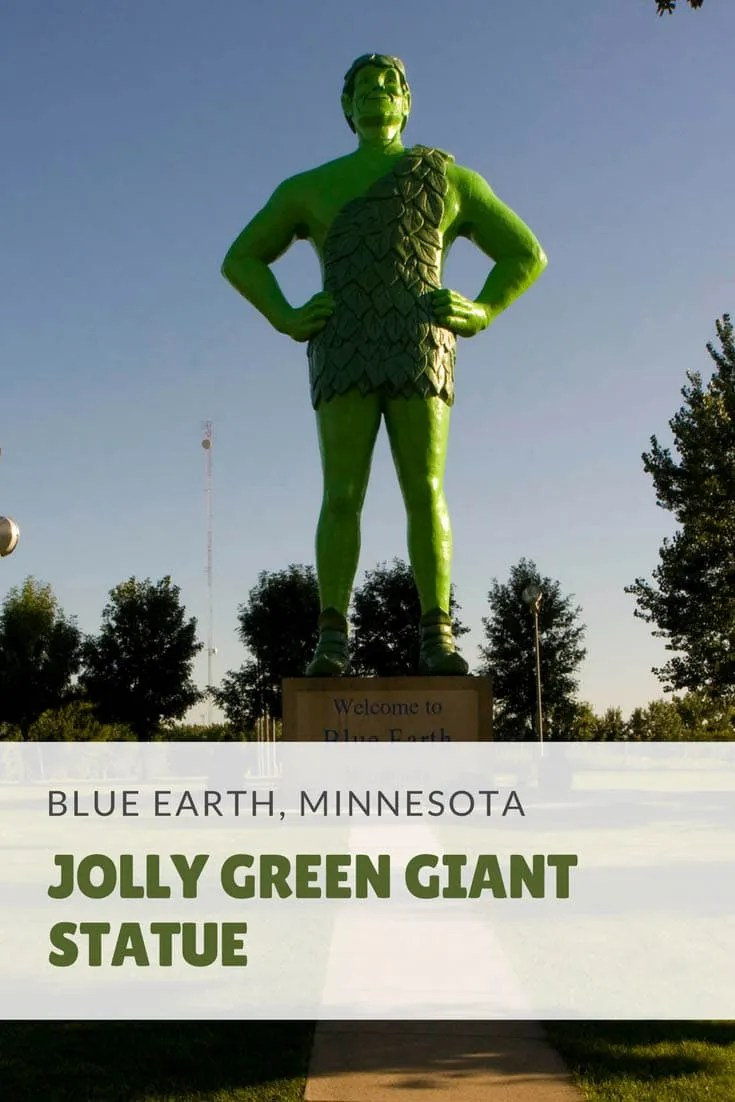 Jolly Green Giant statue in Blue Earth, Minnesota | Roadside Attractions in Minnesota