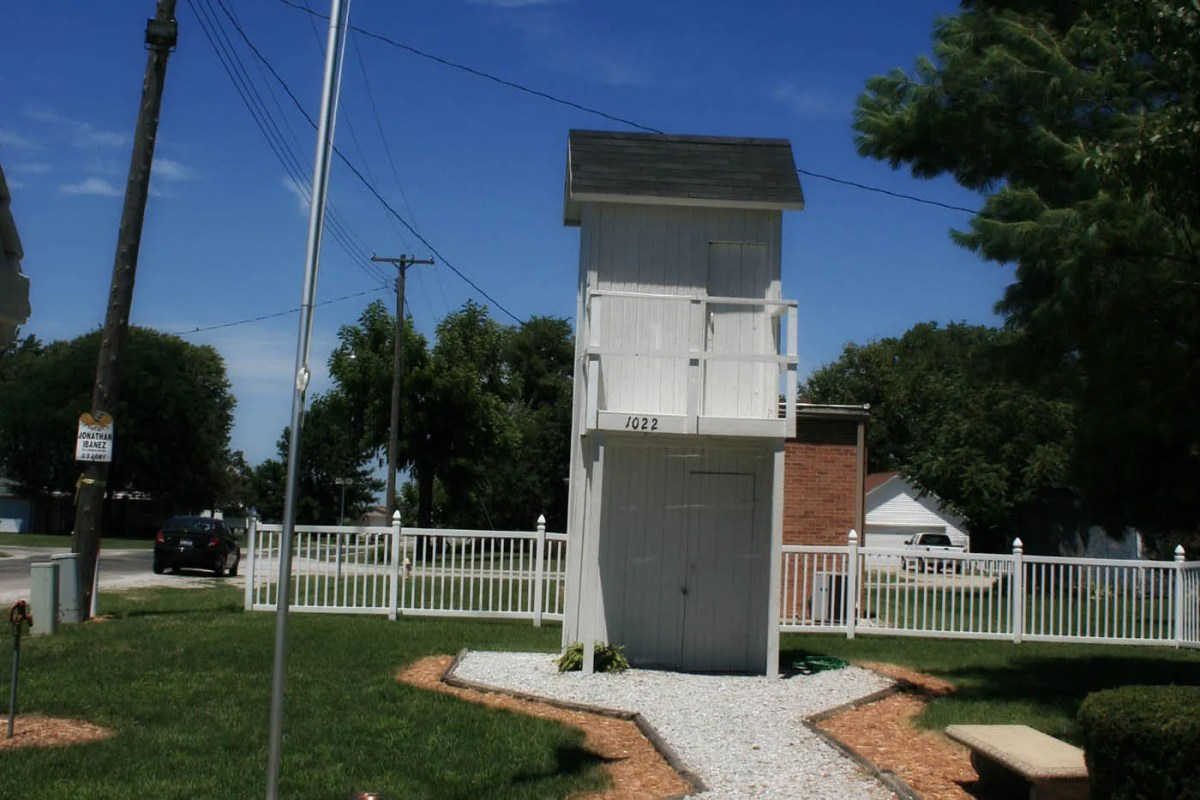 Two-Story Outhouse in Gays, Illinois