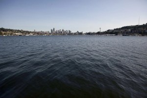 View of the Seattle skyline from Gas Works Park.