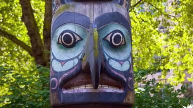 Totem Pole in Seattle, Washington.